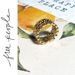 LAST ONE! Free People Lace Gold Stacking Ring